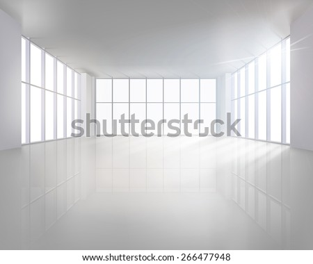 empty large interior vector