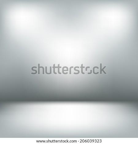 empty light interior gray room