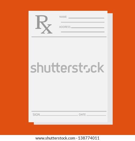 Empty medical prescription