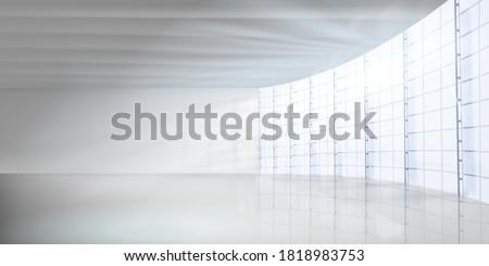 empty modern office room hall