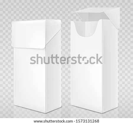 empty open and closed pack of