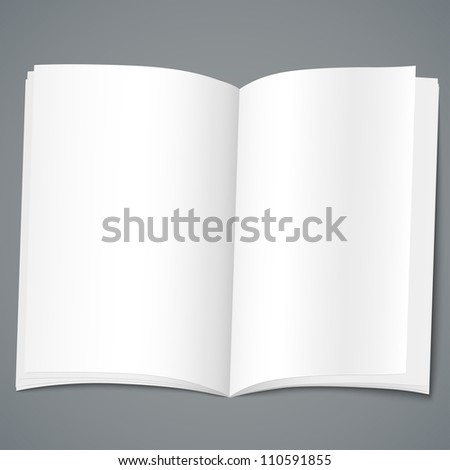 Empty open brochure design template. Vector illustration