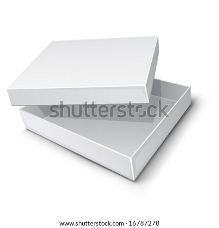 empty paper box vector illustration isolated on white background