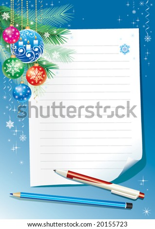 Empty paper for christmas greeting