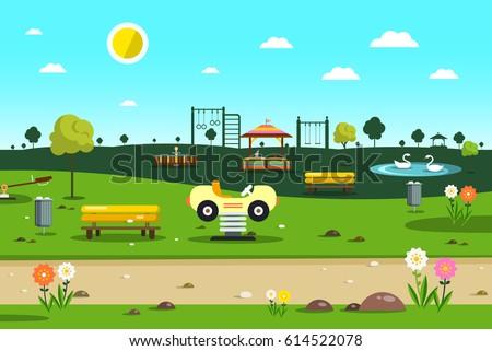 empty park   playground    city