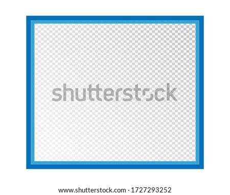 Empty photo frame isolated on a transparent background. Vector illustration for your design.