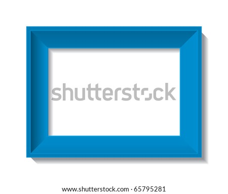 empty photo frame - vector