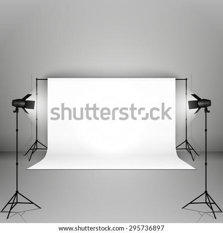 empty photo studio with