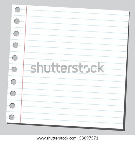 Empty piece of paper