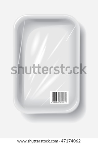 empty plastic container, vector - stock vector