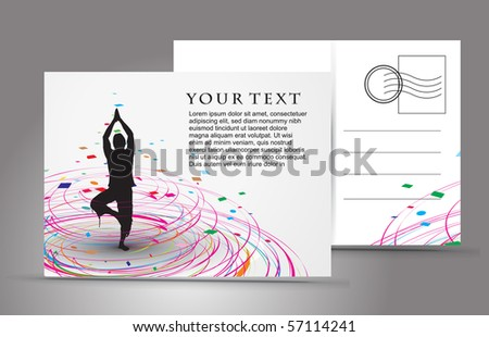 empty post card, isolated on illustration background, vector illustration