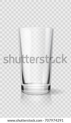 empty realistic drinking glass