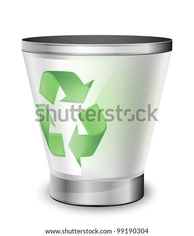 Empty recycle bin. Vector icon - stock vector