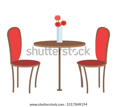 empty restaurant table with