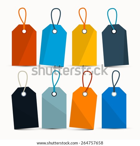 stock-vector-empty-retro-colorful-vector-labels-with-strings-isolated-on-white-background