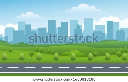 empty road valley summer