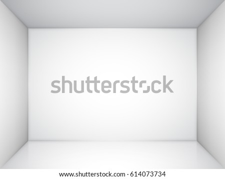empty room or niche with white