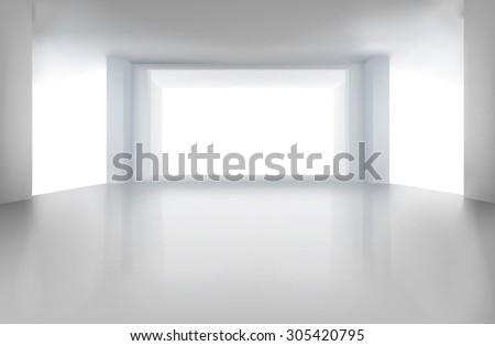 empty room vector illustration
