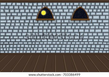 empty room wall of brick