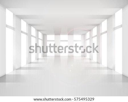 empty room  white shade design