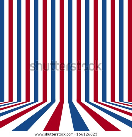 empty room with flag patterned