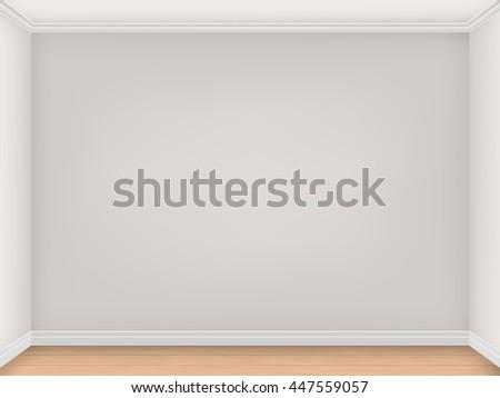 empty room with three beige