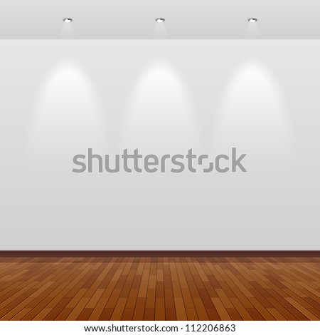empty room with white wall and