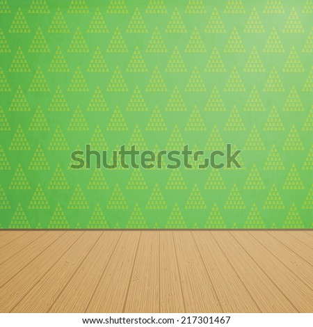 empty room with wooden floors