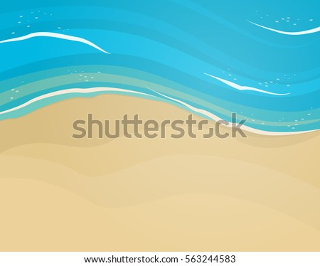 empty sand beach and blue wave