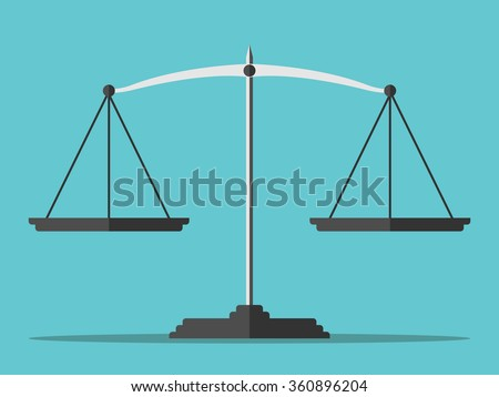empty scales on blue background