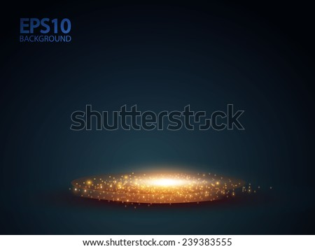 empty scene with shining lights