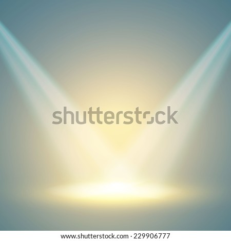 empty scene with spotlights