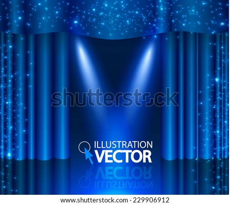 empty scene with stage curtain