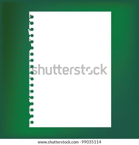 empty sheet of paper