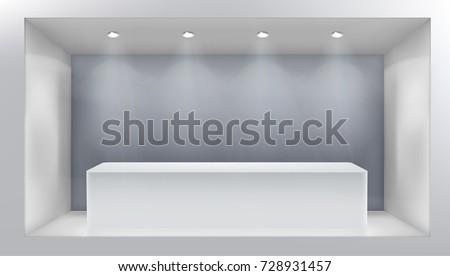empty shop window vector