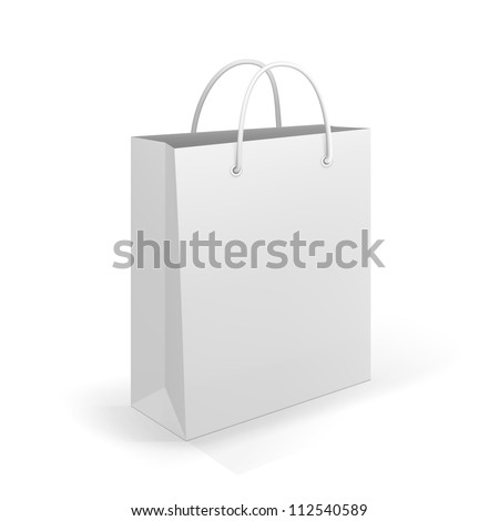 Empty Shopping Bag on white for advertising and branding - stock vector
