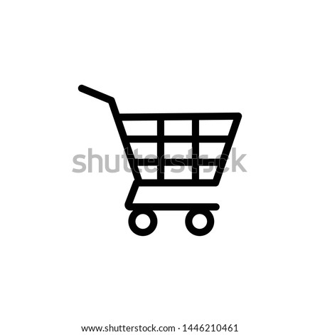 empty shopping cart icon vector. perfect shopping cart symbol. web design and mobile design. white background.