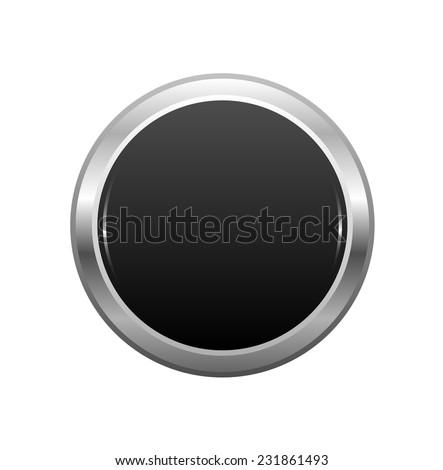 Empty silver button