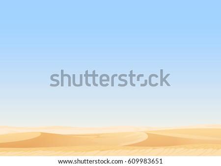 empty sky desert dunes vector