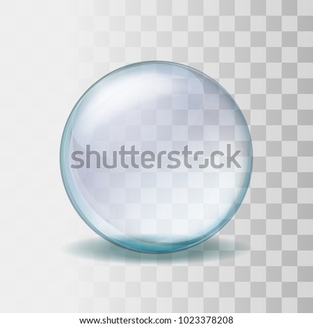 empty snow globe realistic