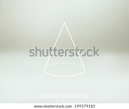 Empty soft light white gray studio backdrop background, vector illustration. This backdrop  is perfect for catalog images, advertising products, objects