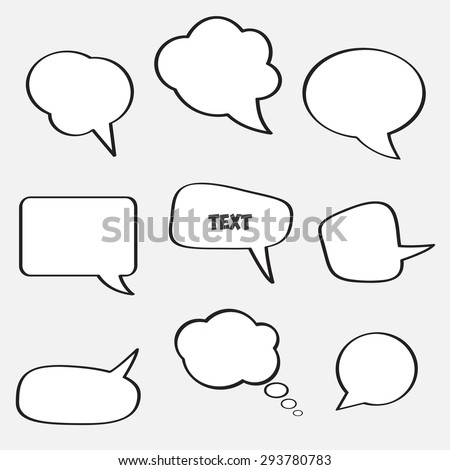 Empty speech bubbles for text communication. Vector image of the  eps 10.