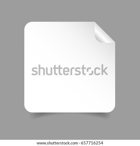 Empty sticker square