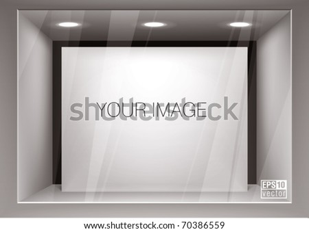 Empty storefront. You can change colors for the background, eps10 vector - stock vector