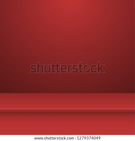 Empty studio background for product display. Vector abstract mock up realistic 3D shelf.