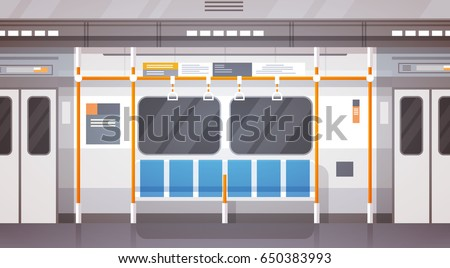 empty subway car interior