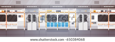 empty subway car interior