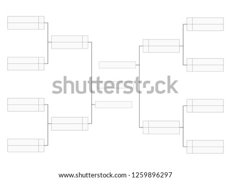 Bracket Template | Tournament Bracket Blank Template Vector Download Free Vector Art