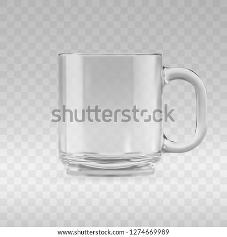 empty transparent glass mug