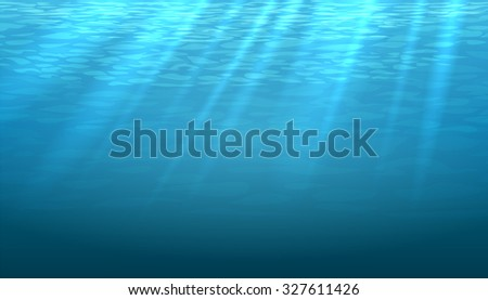 empty underwater blue shine